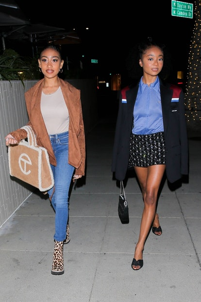Skai Jackson and pal Lexi Underwood at Ocean Prime in Beverly Hills.