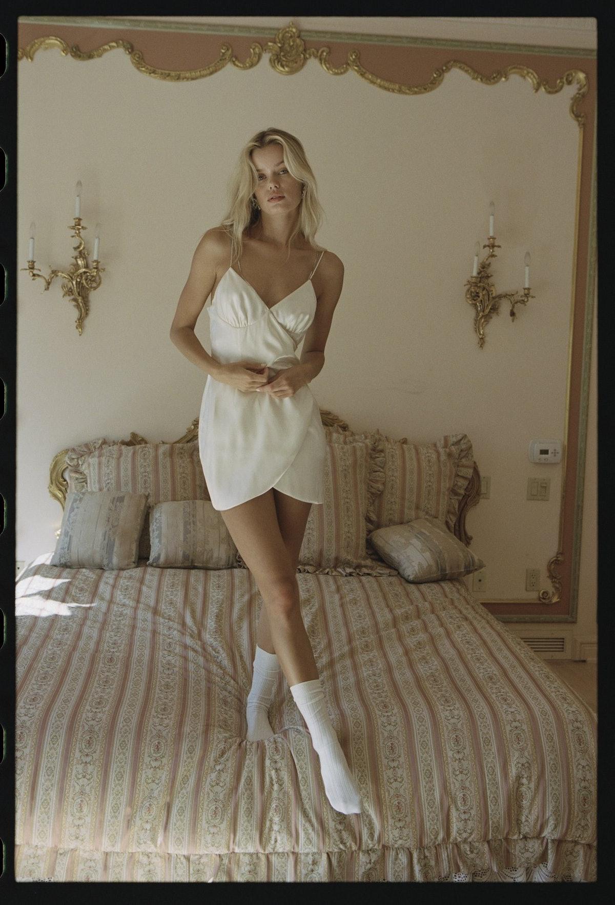 White Farah dress from Nana Jacqueline.