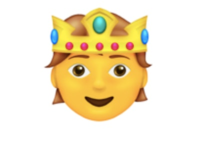 A person with a crown is one of the new 2021 emojis.