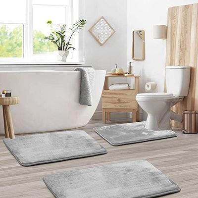 Clara Clark Bathroom Rugs (3-Pack)
