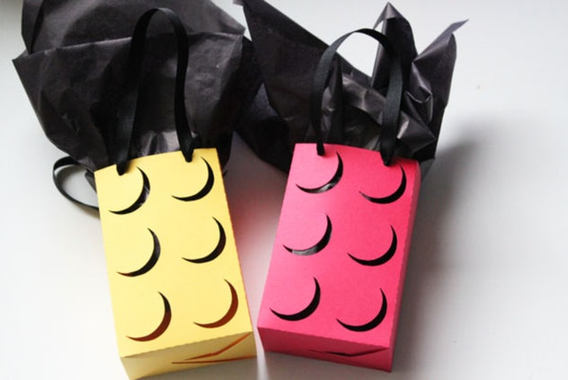 LEGO gift wrap is a fun construction paper craft to make with kids.