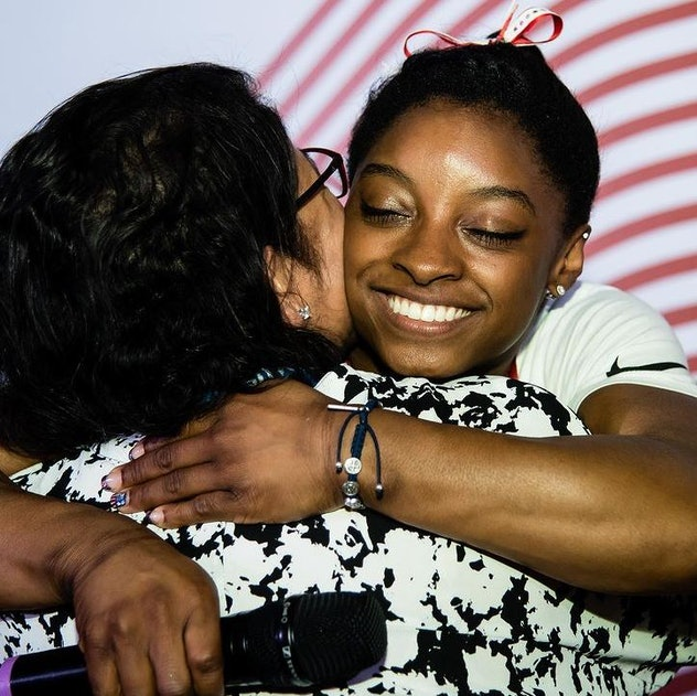 Simone hugs her mother in this photo posted on July 14, 2021 on Instagram.