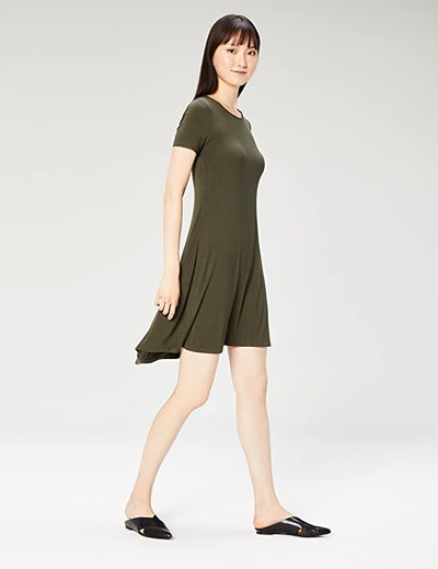 Daily Ritual Jersey Short-Sleeve Dress