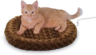 K&H Heated Cat Bed With Orthopedic Foam Base