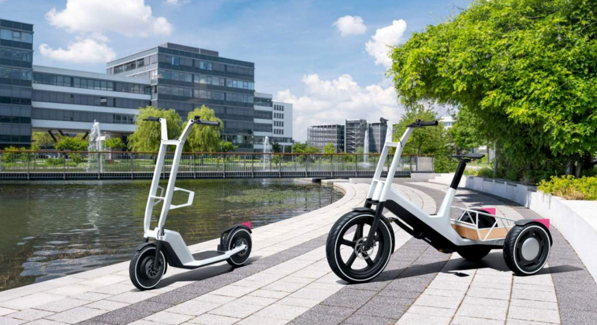 Rendered images of BMW's new e-bike and e-scooter