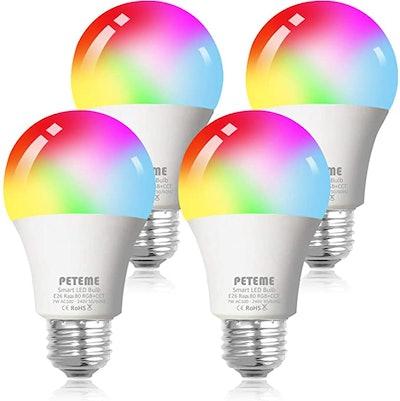 Peteme Smart WiFi Alexa Light Bulb (4-Pack)