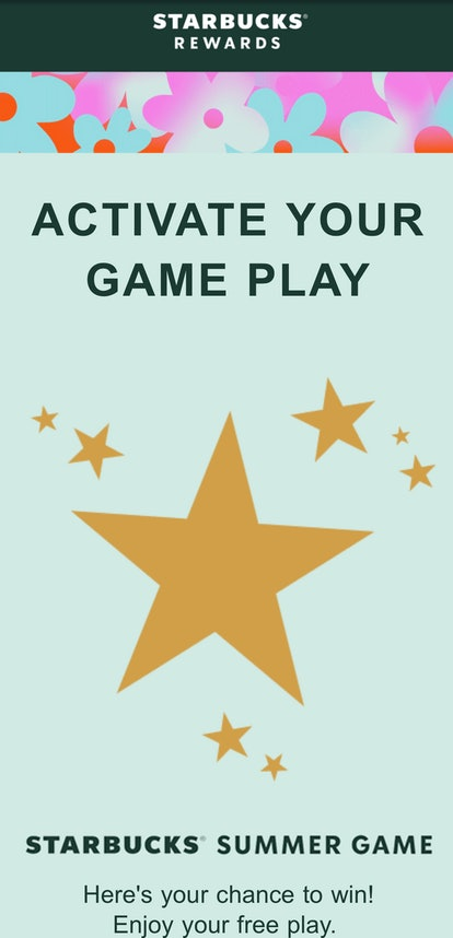 You can play Starbucks' Summer 2021 Game by using free game plays.