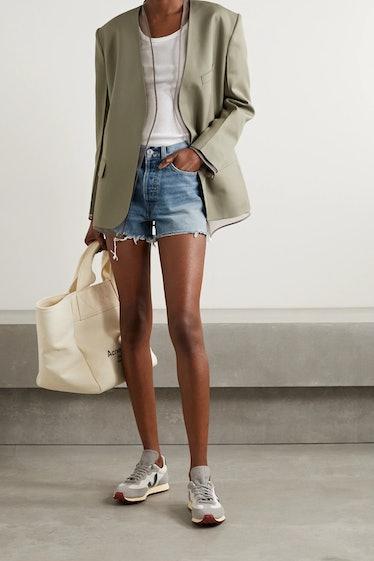 70s Distressed Denim Shorts