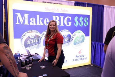Booth at the National Sheriffs' Association Convention in Phoenix 2021