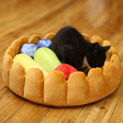 S-Lifeeling Fruit Tart Cat Bed