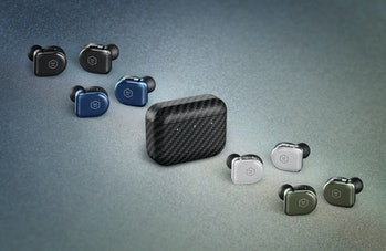Master & Dynamic MW08 earbuds in four colors