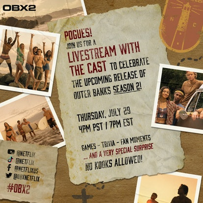 A promo for the 'Outer Banks' Season 2 premiere.