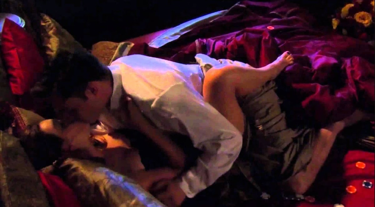 Leighton Meester as Blair Waldorf and Ed Westwick as Chuck Bass in The CW's 'Gossip Girl'