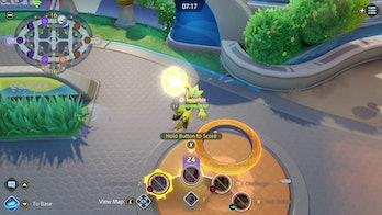 Zeraora scoring Pokémon Unite