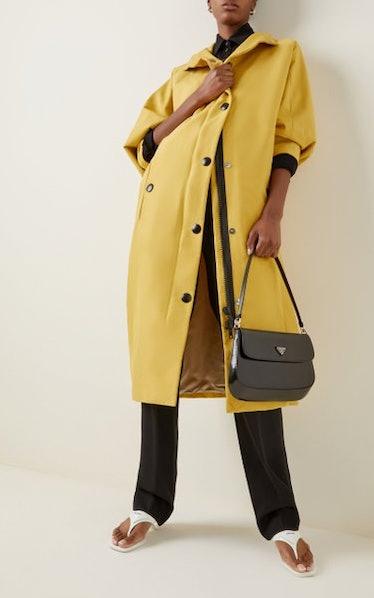 Oversized Nylon Hooded Rain Coat