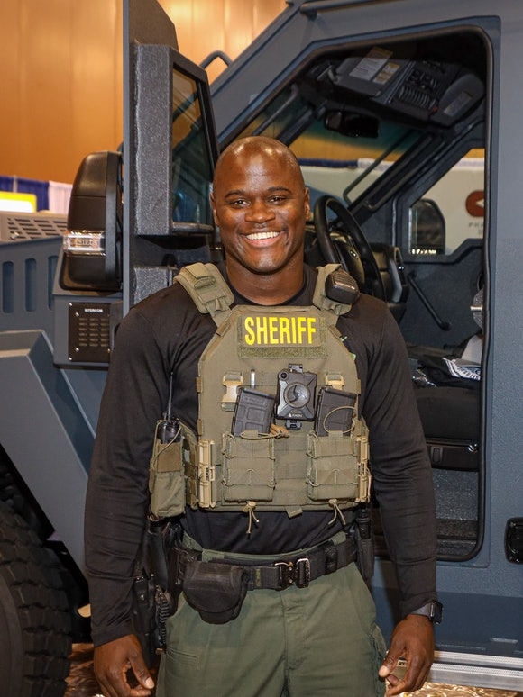 A Black sheriff at the National Sheriffs' Association Convention in Phoenix 2021