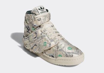 Adidas x Jeremy Scott money-printed Forum Wings sneaker