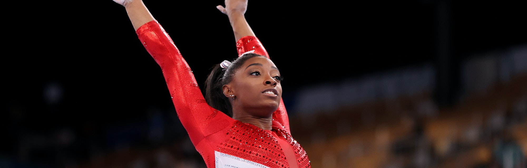 Simone Biles compete at the Tokyo Olympics on July 27.