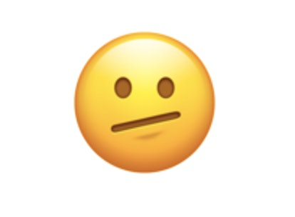 A face with a diagonal mouth is one of the new 2021 emojis.
