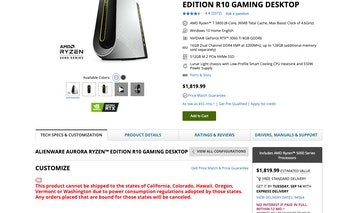 Some high-powered gaming PCs cannot be sold in California and several other states as new regulation...