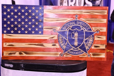 American flag art at the National Sheriffs' Association Convention in Phoenix 2021