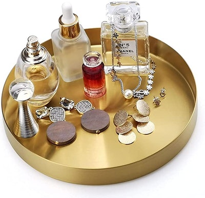 FREELOVE Round Gold Serving Trays