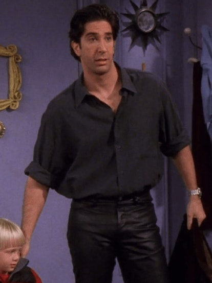 See the guy outfits from 'Friends' that epitomize '90s fashion, from layered tees and dad jeans to v...