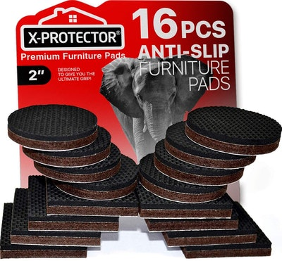 Furniture Grippers X-PROTECTOR Non Slip Furniture Pads (16-Pack)
