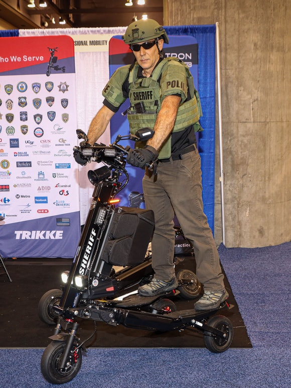 Sheriff on a scooter at the National Sheriffs' Association Convention in Phoenix 2021
