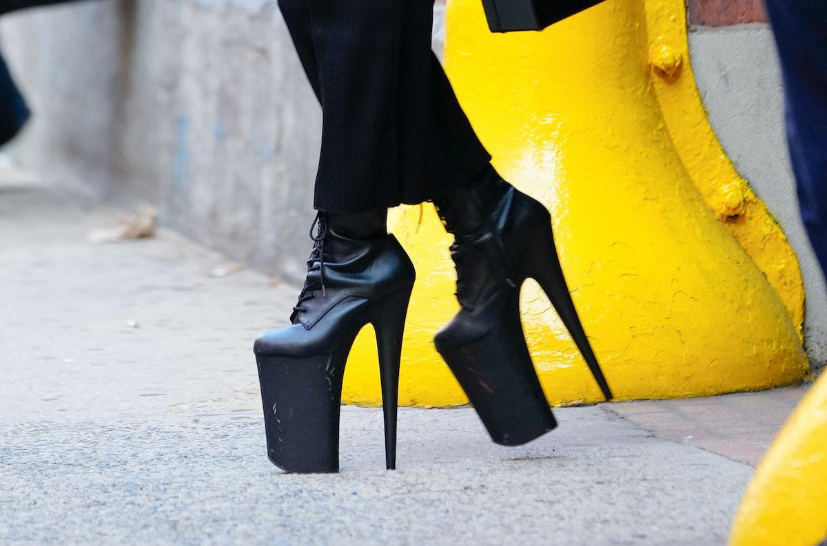 Lady Gaga's 9-inch heels