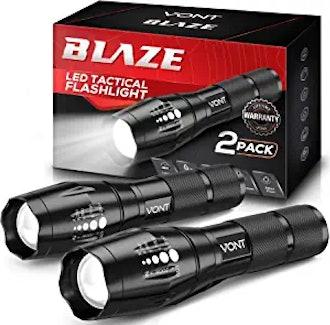 Vont LED Tactical Flashlights (2 Pack)