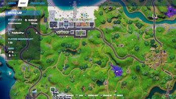 fortnite week 8 alien artifact location 4 map