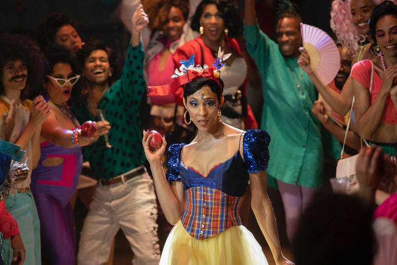 Pose star Blanca Rodriguez played by MJ RODRIGUEZ pictured wearing a snow white costume at a ball