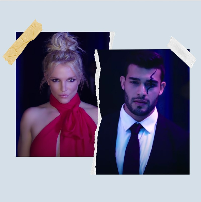 """Britney Spears and Sam Asghari in the """"Slumber Party"""" music video."""