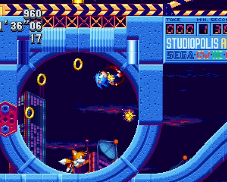 A screenshot from Sonic Mania