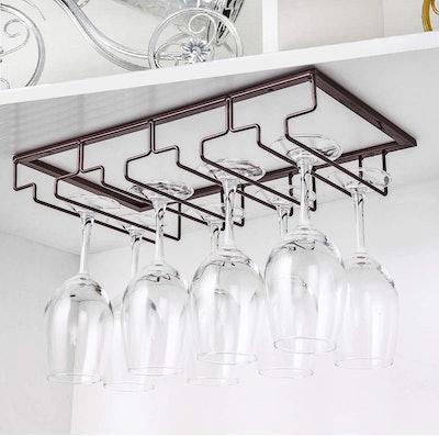 FOMANSH Under Cabinet Wine Glass Rack