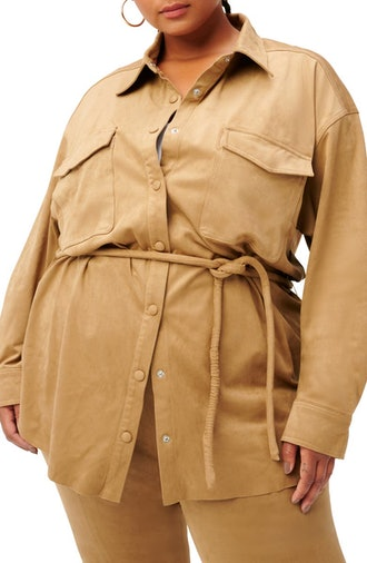 Belted Shirt Jacket from Good American, available on Nordstrom's anniversary sale.