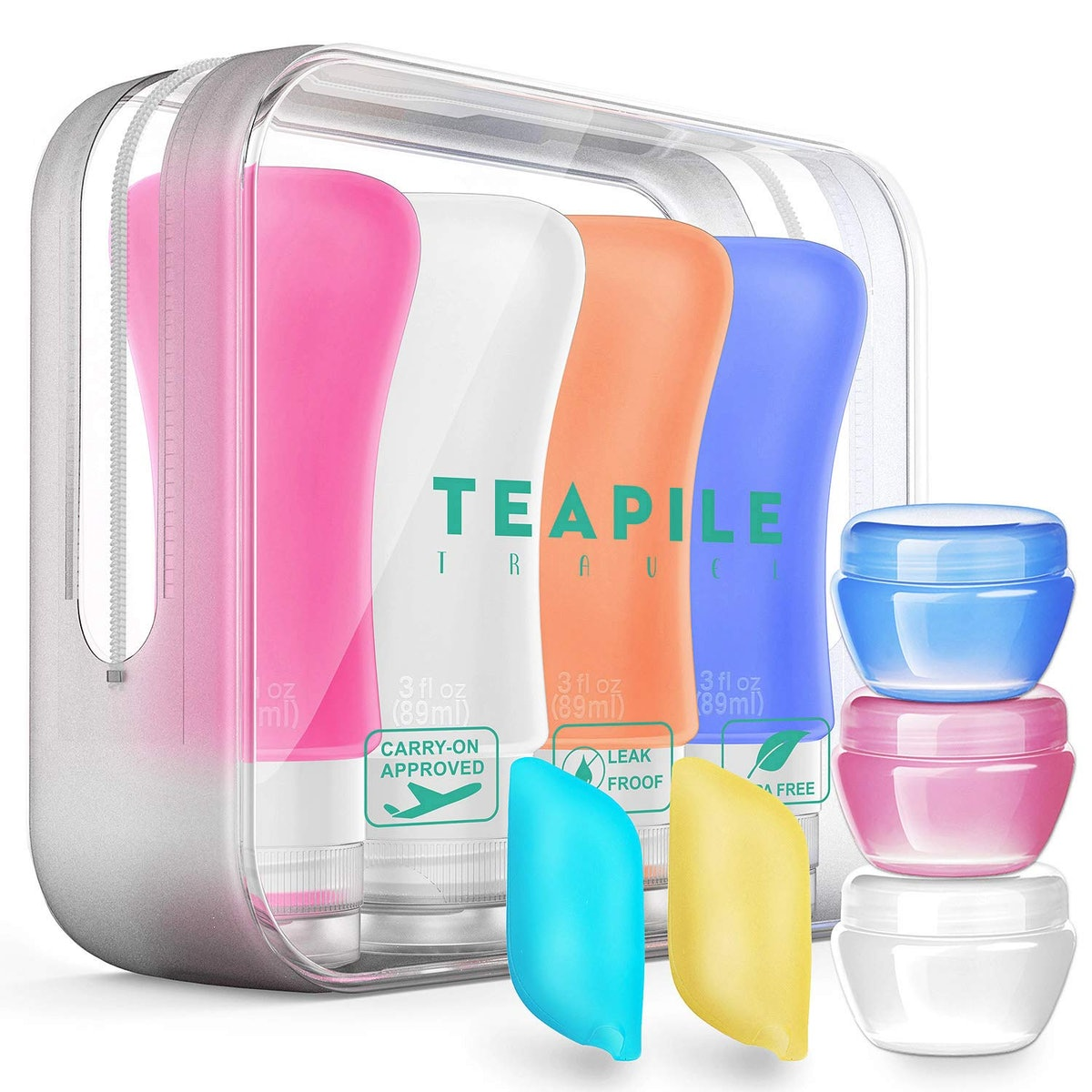 Teapile TSA Approved Containers (9-Piece Set)