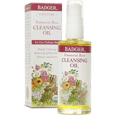 Badger Damascus Rose Cleansing Oil