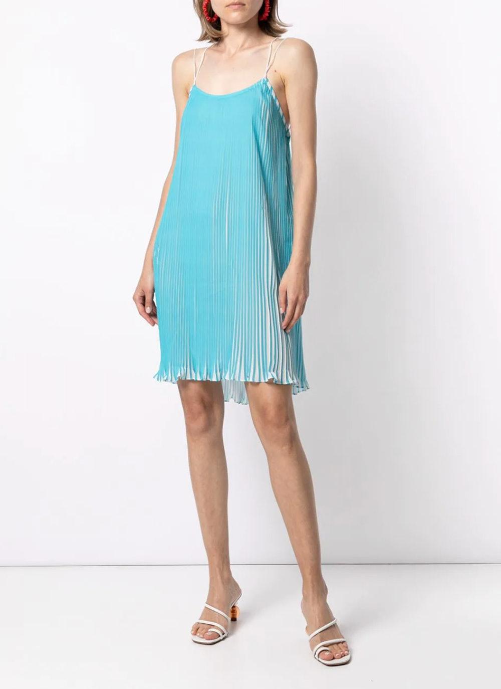 Stella Plissé Mini Dress