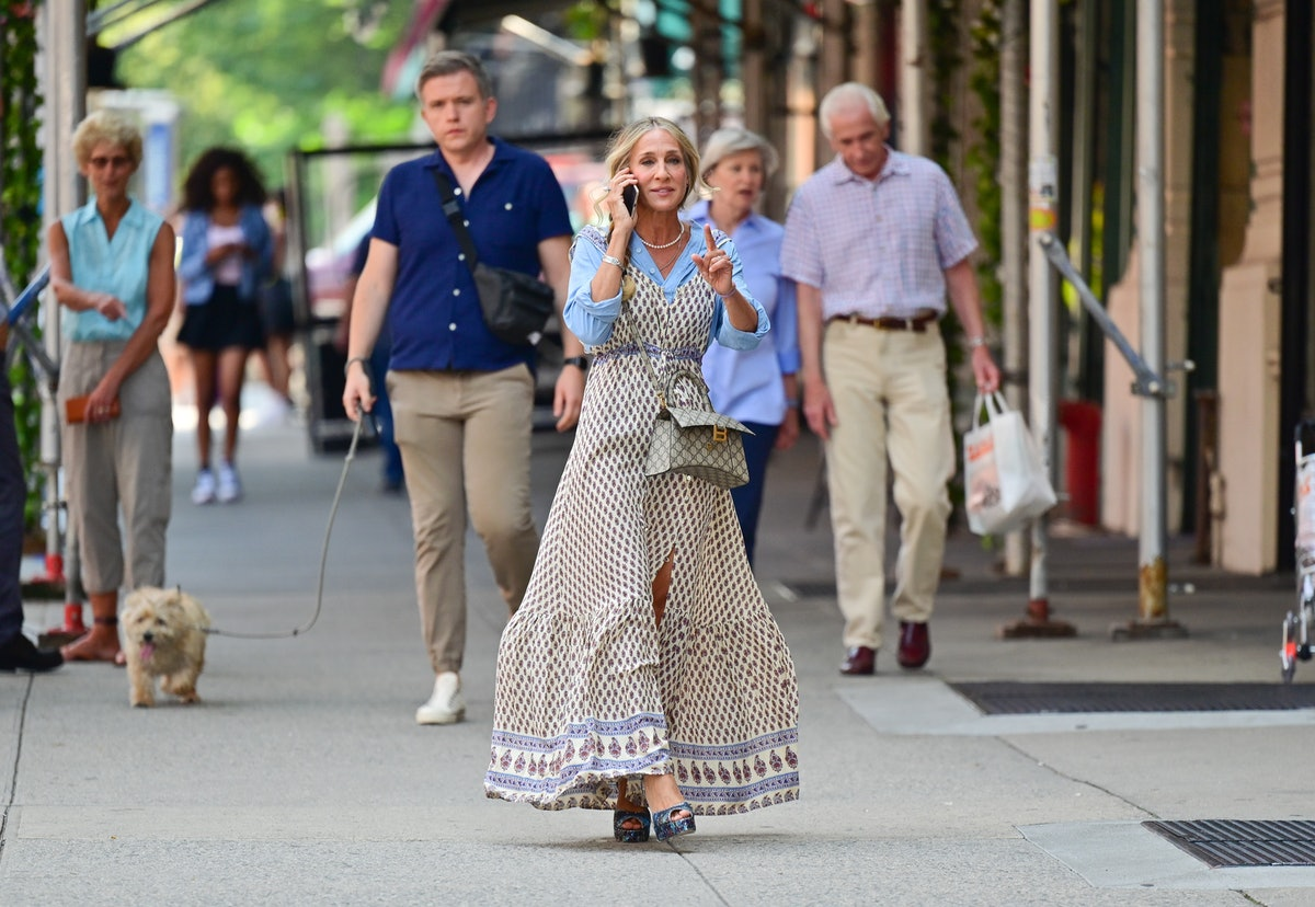Sarah Jessica Parker on the set of And Just Like That...