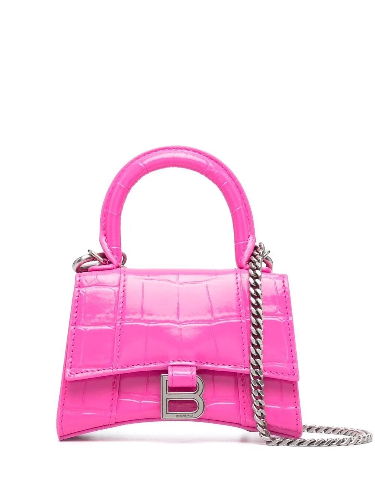 Chain Strap Hourglass Mini Bag