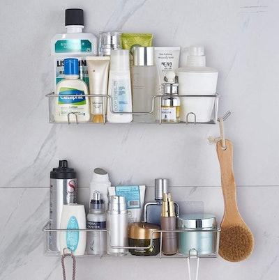 AmazerBath Adhesive Bathroom Shower Shelf (2-Pack)