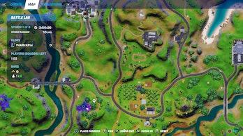fortnite week 8 alien artifact location 3 map