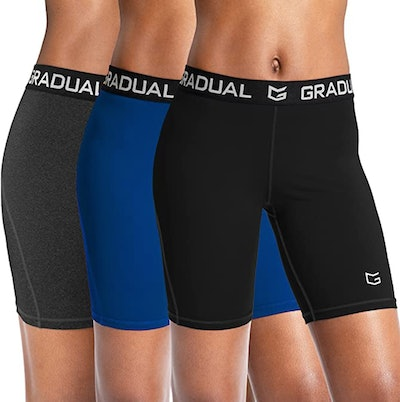 G Gradual Spandex Compression Volleyball Shorts (3-Pack)