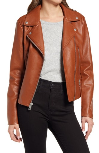 Women's Faux Leather Moto Jacket from Levi's, available on Nordstrom's Anniversary Sale.