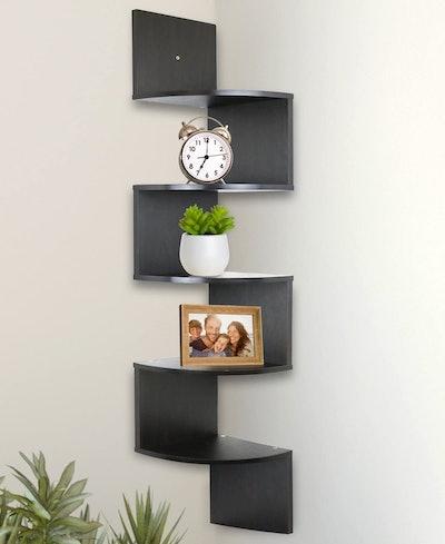 Greenco 5-Tier Wall-Mounted Corner Shelf