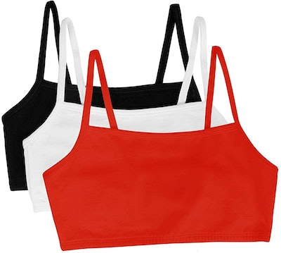 Fruit of the Loom Cotton Pullover Sports Bras (3-Pack)
