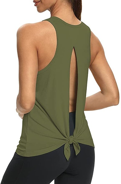 Mippo Open-Back Workout Shirt