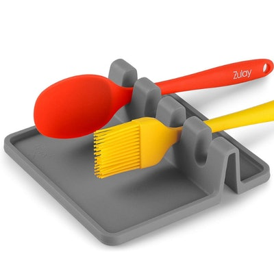 Zulay Kitchen Silicone Utensil Rest with Drip Pad